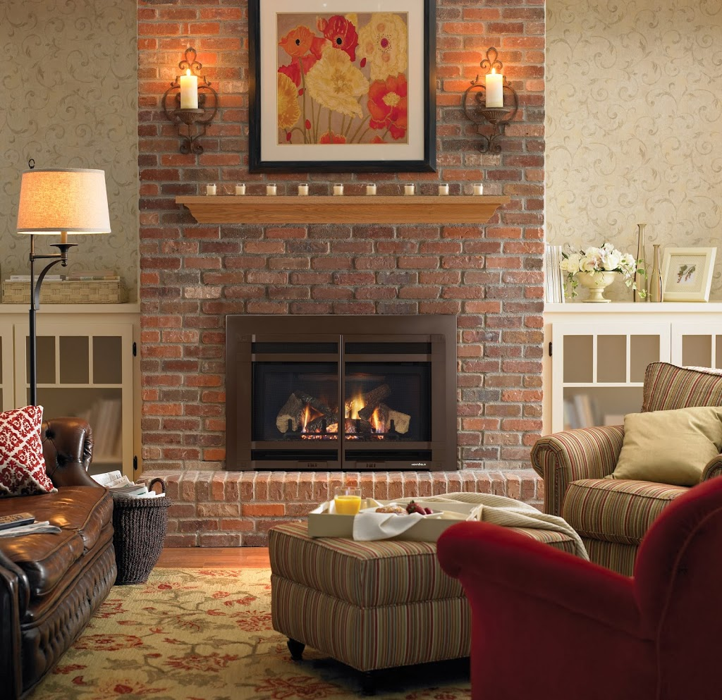 Colorful Living Spaces With Stone Hearth And Home