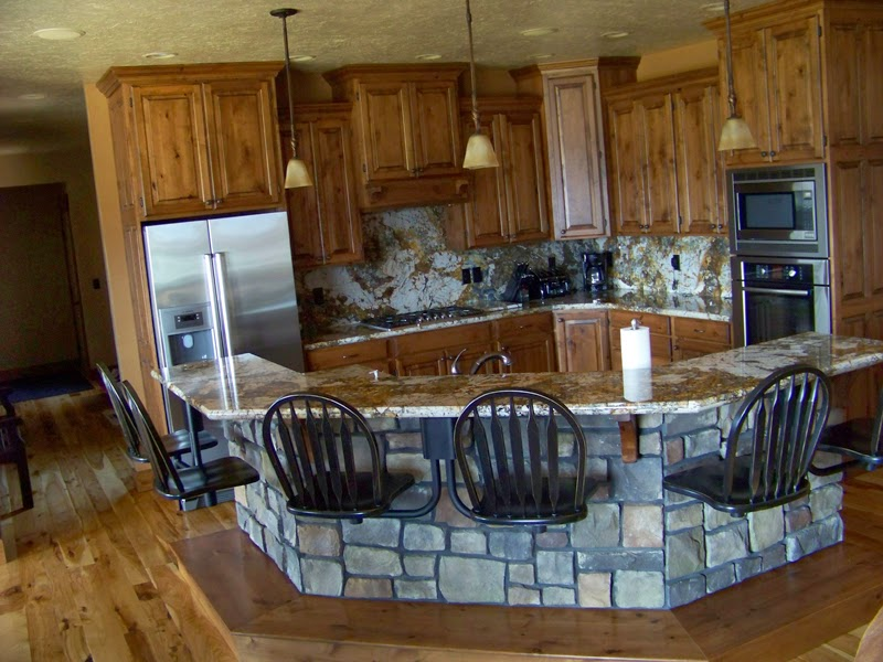 Where can i put stone work in my kitchen hearth and for Stone kitchen island