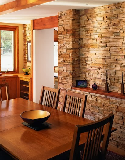 Adding stone walls and back splashes to your living area, entry or kitchen  can bring in a whole new element and texture. It ties in a more natural  aspect to ...