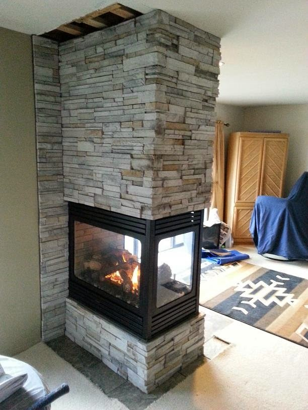 Stone & Brick with Peninsula Fireplaces - Hearth and Home