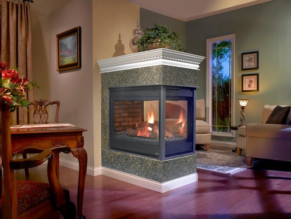 Stone Brick With Peninsula Fireplaces Hearth And Home Distributors Of Utah Llc