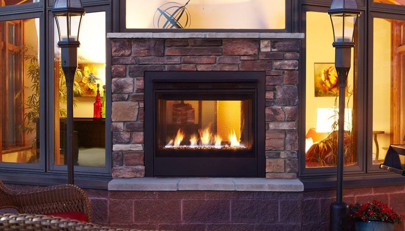 Quadra-Fire Twilight Modern Gas Fireplace