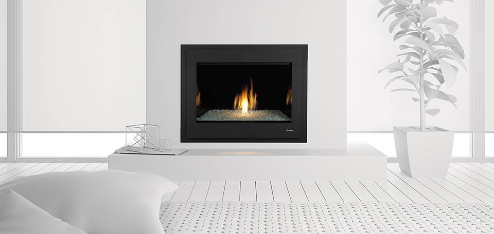 Heat glo 8000 modern gas fireplace hearth and home for Modern propane fireplace