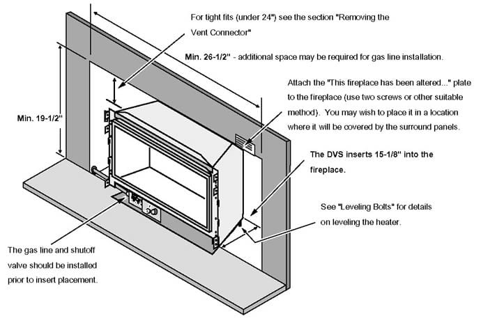 installing installation productdetail trv insert xtrordinair fireplace gas productguide