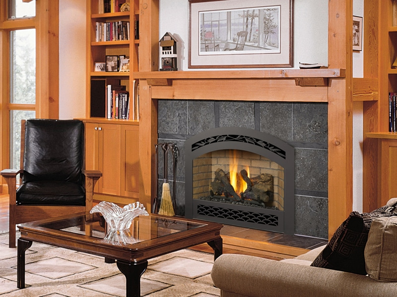 Fireplace xtrordinair 564 space saver tm gas fireplace hearth and home distributors of utah llc - Gas fireplaces for small spaces property ...