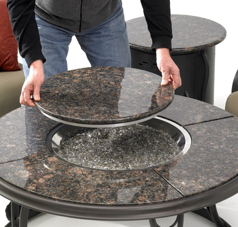 Outdoor Greatroom Company 42u2033 Granite Fire Pit Table