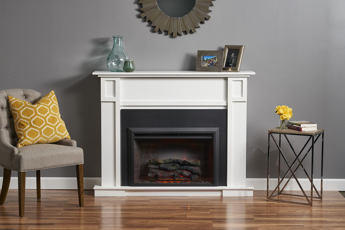 White Fireplace Hearth