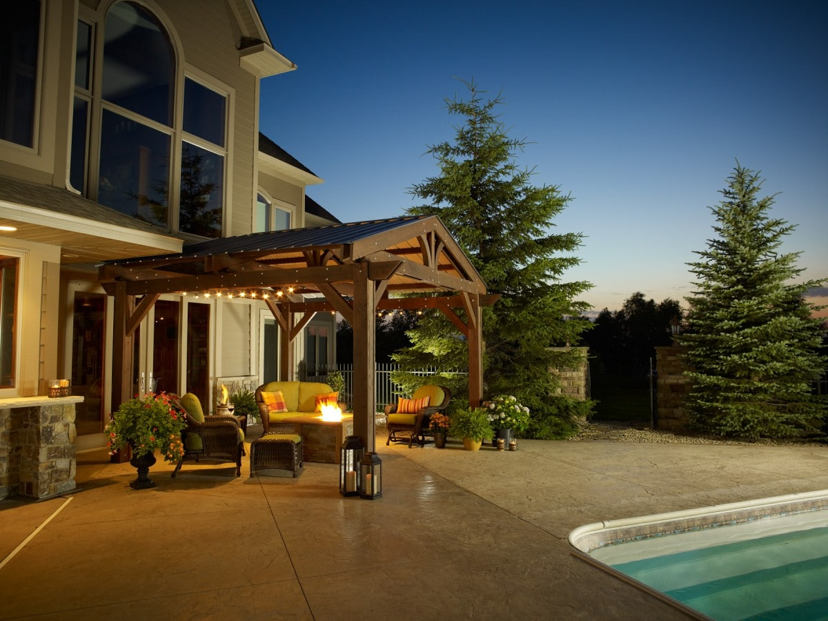 Outdoor Greatroom Company Optional Metal Roof Lodge