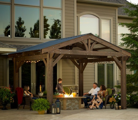 Pergola Off Of An Existing Covered Porch: Outdoor Greatroom Company Lodge-II Pergola