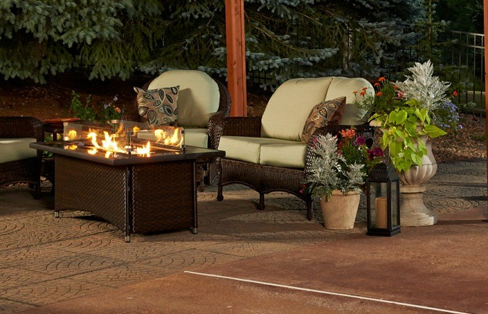 Outdoor greatroom company montego fire pit table more for Great outdoor room company