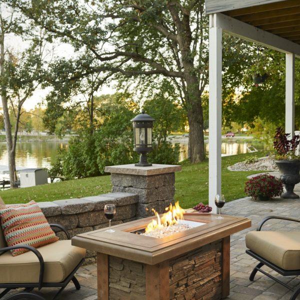 Outdoor greatroom company linear sierra fire pit table for Great outdoor room company