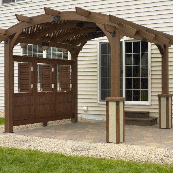 Outdoor greatroom company sonoma 12 pergola mocha for Great outdoor room company
