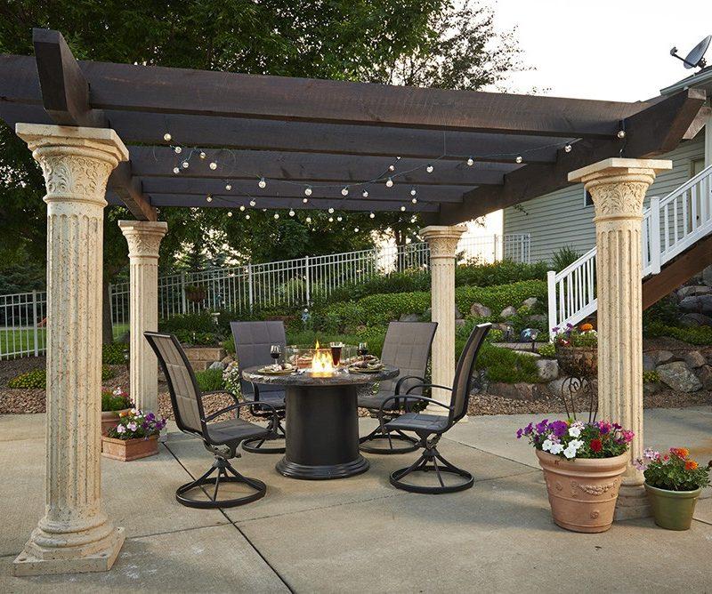 Outdoor greatroom company sonoma 12 pergola redwood for Great outdoor room company
