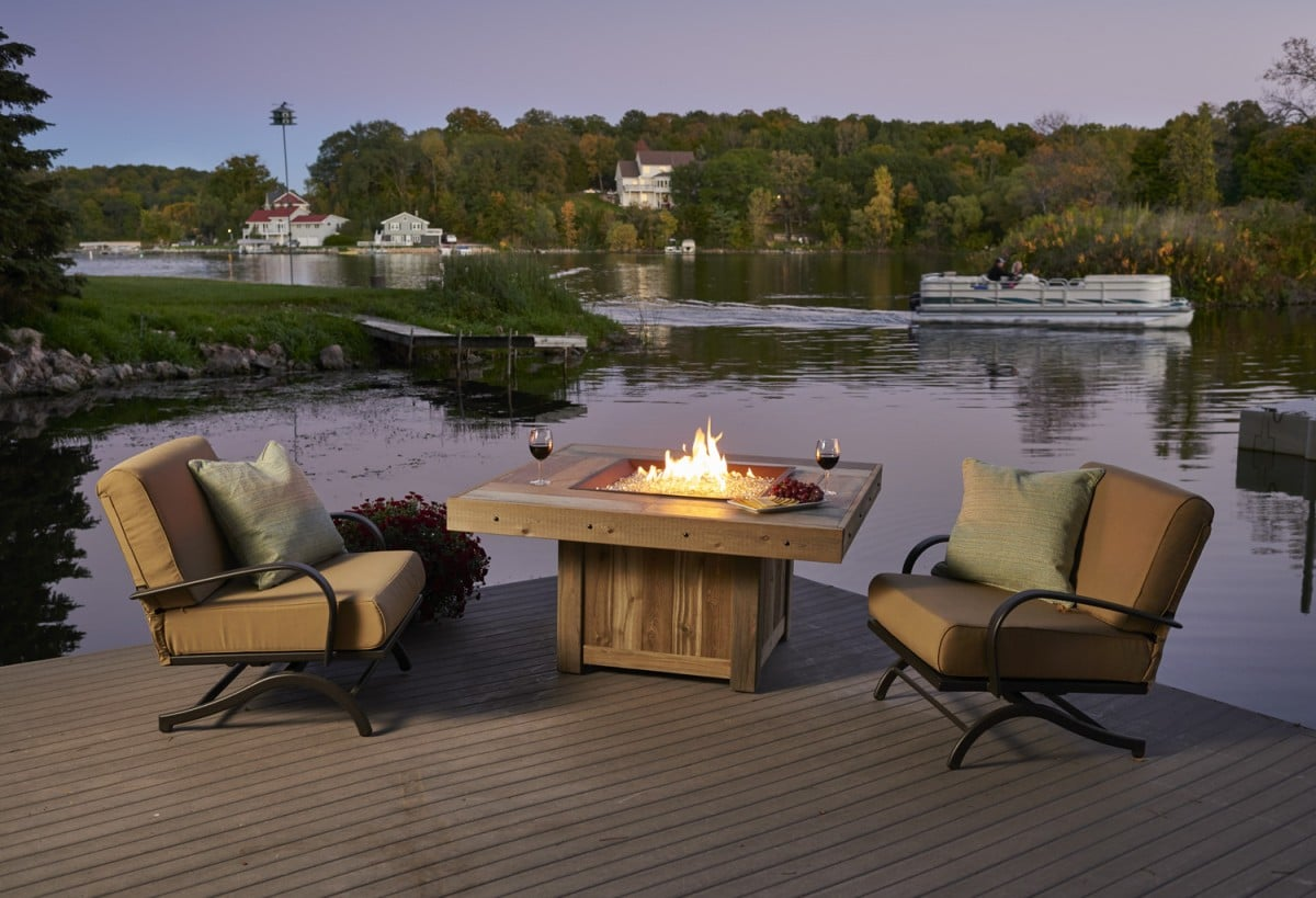 Outdoor Greatroom Company Square Vintage 2424 Fire Table