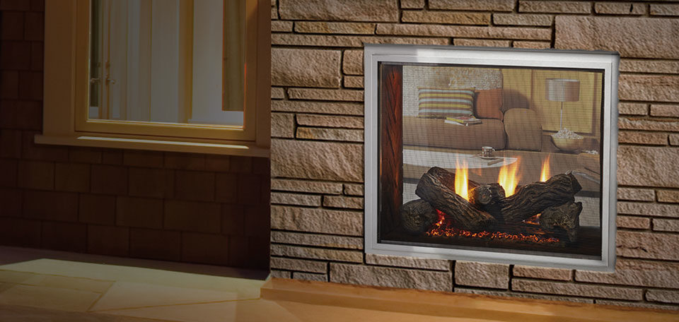 Heat Glo Outdoor Lifestyles Fortress See Through Gas Fireplace