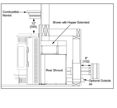 QDF-pellet-CB1200i-CLEARANCES2 Quadra Fire I Insert Wiring Diagram on classic bay 1200 pellet, pellet fireplace, wood burning,