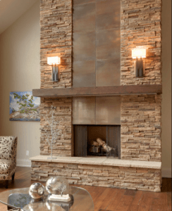 Mid Century Modern Fireplaces With Brick
