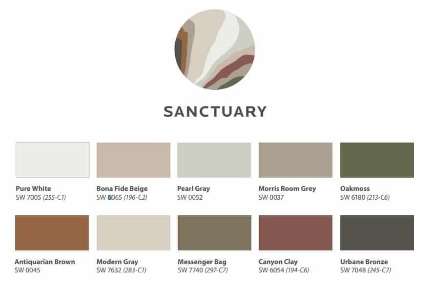 2021 Sanctuary Color Scheme