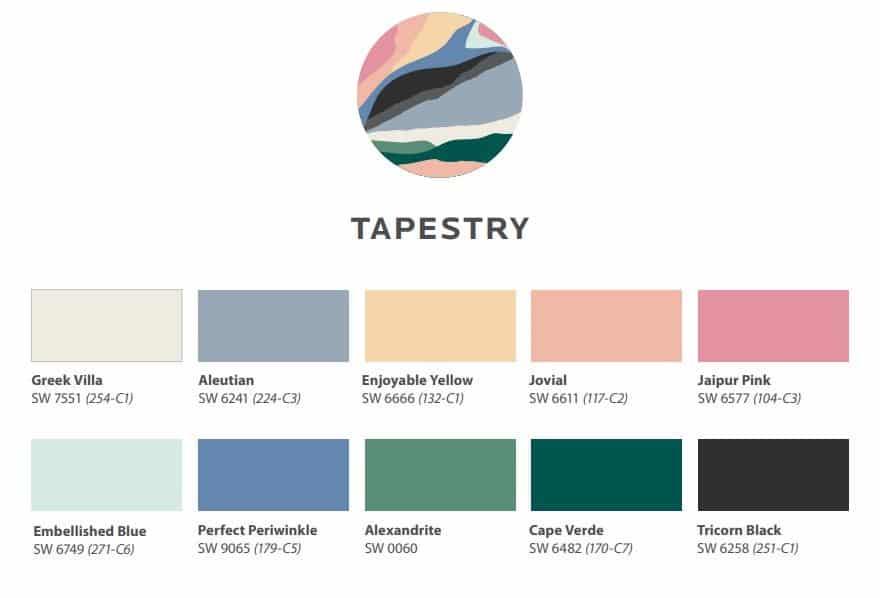 2021 Colormix Tapestry Color Scheme